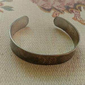 Sterling Silver Cuff Bracelet 19g DCD Engraved